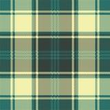 Green yellow plaid check pixel seamless pattern. Vector illustration royalty free illustration