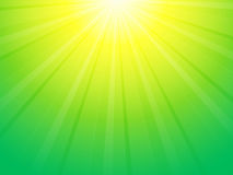 Green yellow ray background Stock Images