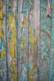 Green and yellow Real Wood Texture Background. Vintage and Old Stock Photo