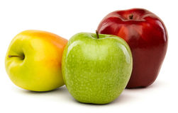 Green, yellow and red apples Royalty Free Stock Photography