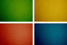 Green, Yellow, Red and Blue Background (12MP each) Stock Image