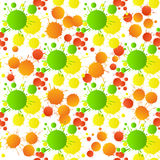 Green yellow red orange watercolor drops seamless pattern Royalty Free Stock Photo