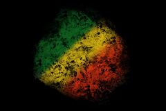 Green yellow red smoke on black background ,reggae background concept