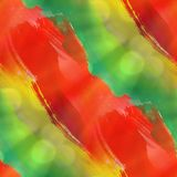 Green, yellow, red texture watercolor seamless Royalty Free Stock Photography