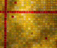 Green Yellow Red Tile Mosaic Background Stock Photos