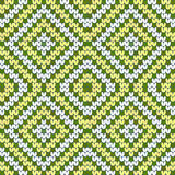 Green and yellow seamless argyle texture Royalty Free Stock Photos
