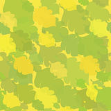 Green-Yellow Seamless with Oak Leaves Stock Photography