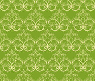 Green and yellow seamless pattern Stock Photography