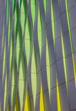 Green, yellow and silver curves of the university hospital in Gr Stock Images