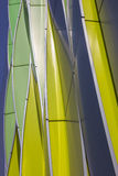 Green, yellow and silver curves of the university hospital in Gr Royalty Free Stock Photography