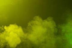 Green and Yellow Smoke Texture Stock Photos