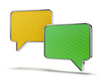 Green and yellow speech bubbles Stock Photos
