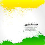 Green And Yellow Splatter Paint Grunge Bright Stock Images