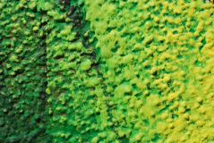 Green and Yellow Stucco Stock Image