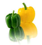 Green and yellow sweet pepper Royalty Free Stock Image