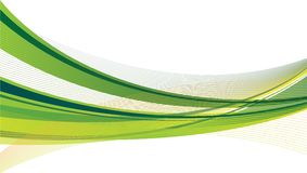 Green and Yellow Swoosh. Design with dynamic green and yellow swoosh on a white background stock illustration
