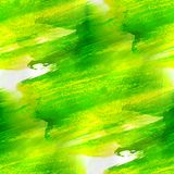 Green, yellow texture watercolor seamless Royalty Free Stock Photos