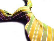 Green yellow tie Royalty Free Stock Image
