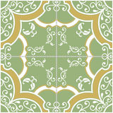 Green and Yellow Tile royalty free illustration