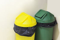 Green and yellow trash Stock Photography