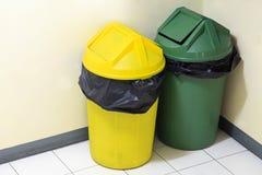 Green and yellow trash Stock Photo