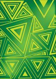 Green and yellow triangle Stock Images