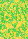 Green yellow triangles Stock Images