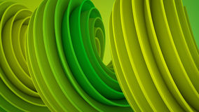 Green yellow twisted 3D shape royalty free illustration