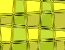 Green and yellow vector pattern with lines and geometric shapes Royalty Free Stock Images