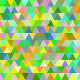 Green and yellow vector seamless pattern with triangles. Abstract background. Stock Photos