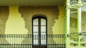 Green, Yellow, Wall, Property Royalty Free Stock Image