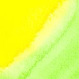 Green and yellow watercolor squarer background Stock Photos