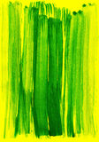 Green on yellow watercolor stroke Stock Images