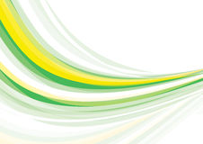 Green and yellow wave Stock Photo