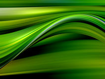 Green and yellow waves Royalty Free Stock Photography