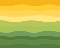 Green and Yellow Wavy Horizon Vector. Green and Yellow Wavy Horizon with green to bright yellow colors in stripes Royalty Free Stock Photography