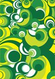 Green-yellow and white  circle Royalty Free Stock Photography