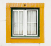 Green and yellow window Royalty Free Stock Image