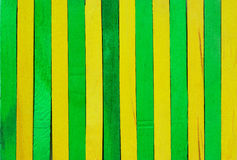 Green and yellow wood background Stock Images