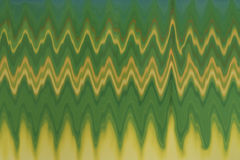 Green yellow zigzag background design pattern Stock Photo