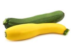 Green and yellow zucchini (Cucurbita pepo) Stock Photos