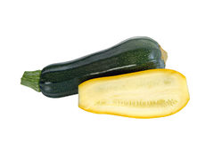 Green and yellow zucchini Royalty Free Stock Photos