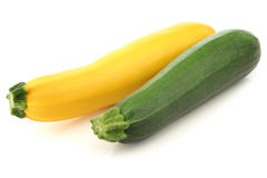 Green and yellow zucchini Stock Images