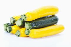 Green and yellow zucchinis Royalty Free Stock Photo