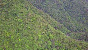 Green Yilan Mountain Hills with Lush Foliage in Taiwan. Aerial View. Shot with a DJI Mavic fps 29,97 4k stock footage