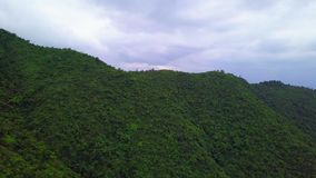 Green Yilan Mountain Hills with Lush Foliage in Taiwan. Aerial View. Shot with a DJI Mavic fps 29,97 4k stock video footage