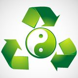 Green Yin Yang Stock Photos