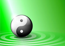 Green ying yang background Royalty Free Stock Photography