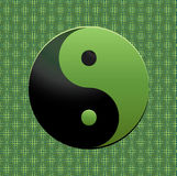 Green Ying-Yang symbol Royalty Free Stock Photos
