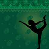 Green yoga background Royalty Free Stock Photography